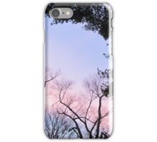 Fading Sunrise Colors By The Tree iPhone Case/Skin