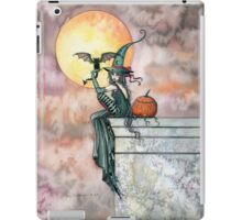 Batty Cat Witch Halloween Fantasy Art by Molly Harrison iPad Case/Skin