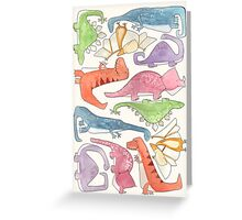 Dinosaur Collage Greeting Card