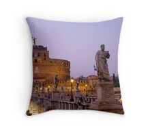 Angels in the Evening Throw Pillow