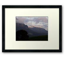photoj Tas Mt Roland Sunrise Framed Print
