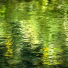 Green Water Abstract Art by Christina Rollo