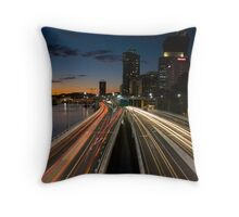 Brisbane Rush Hour Throw Pillow