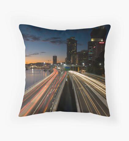 Brisbane Rush Hour Throw Pillow