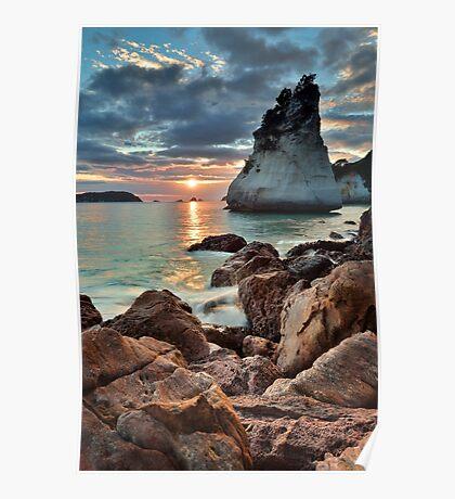 Te Hoho Amber Sunrise Poster