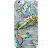 Leaping Carp Mermaid Fantasy Art Art by Molly Harrison iPhone Case/Skin