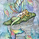 Leaping Carp Mermaid Fantasy Art Art by Molly Harrison by Molly  Harrison