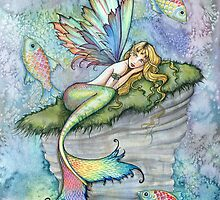 Leaping Carp Mermaid Fantasy Art Art by Molly Harrison by Molly  Harrison