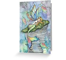 Leaping Carp Mermaid Fantasy Art Art by Molly Harrison Greeting Card