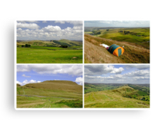 Mam Tor Collage 01 - Plain  Canvas Print