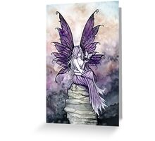 Letting Go Fairy Art with White Butterfly Greeting Card