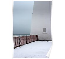 Fort Gratiot Light with Fence 2 Poster