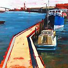 Oil Sketch, Melbourne Docklands by Roz McQuillan