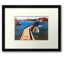 Oil Sketch, Melbourne Docklands Framed Print