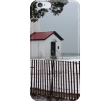 Fort Gratiot Light with Fence iPhone Case/Skin