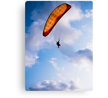 Paraglider Freedom in Varkala, India Canvas Print