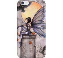 Autumn Raven Fantasy Gothic Fairy and Ravens  iPhone Case/Skin