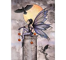 Autumn Raven Fantasy Gothic Fairy and Ravens  Photographic Print