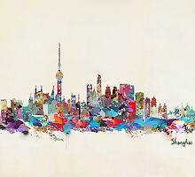 Shanghai skyline by bri-b