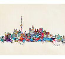 Shanghai skyline Photographic Print