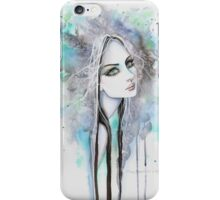 Green Eyed Ghost Gothic Girl Fantasy Abstract Art iPhone Case/Skin