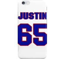 National football player Justin Smiley jersey 65 iPhone Case/Skin