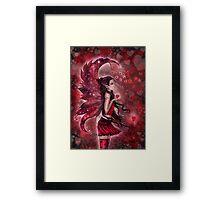 Hearts Valentine Heart Fairy by Molly Harrison Framed Print