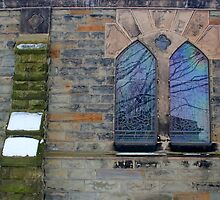 Grace Church Windows in Winter by marybedy