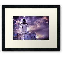 Byron Lighthouse HDR Framed Print