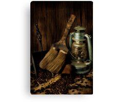 Dustpan & Broom Canvas Print