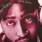 Tupac Shakur Airbrushed Portrait by billy v_
