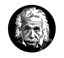 Albert Einstein in Black and White by tangledribbons