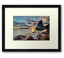Te Hoho Amber Dawn Framed Print