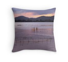 Lak Lake, Vietnam Throw Pillow