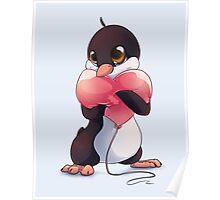 Penguin Valentine Poster