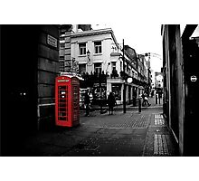 Red telephone box Photographic Print