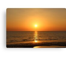 Beautiful Sunset Blackpool Canvas Print