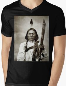 White Hawk Mens V-Neck T-Shirt