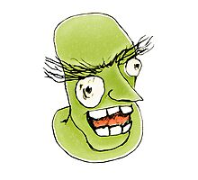 Mad Monster Man with Evil Expression by DFLC Prints