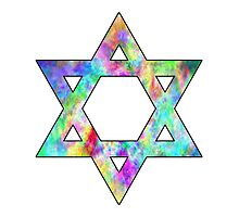 Jewish Star of David Photographic Print