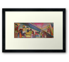 futuristic skyline Framed Print