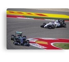 Bottas and Rosberg - Austin Grand Prix Canvas Print