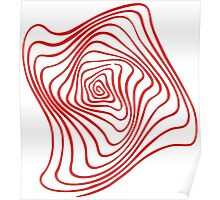 Red Spiral Poster