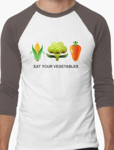 Eat Your Vegetables Men's Baseball ¾ T-Shirt