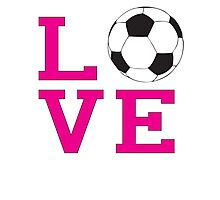 Love-Soccer Photographic Print