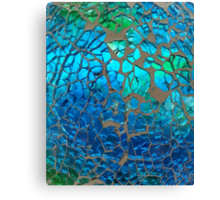 Shimmering Cracked Glass Pattern Canvas Print
