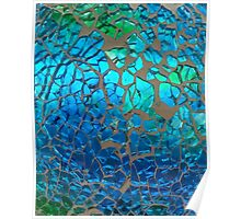Shimmering Cracked Glass Pattern Poster