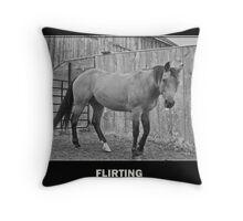 Flirting Throw Pillow