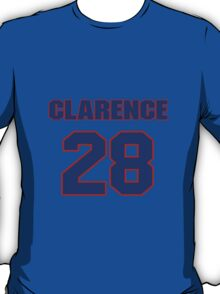 National football player Clarence Love jersey 28 T-Shirt