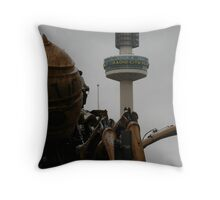 Girl About Town Throw Pillow